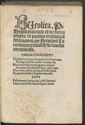 Bucolica P. Vergilii maronis: cu[m] verboru[m] co[n]textu in poetices tyru[n]culoru[m] subleuamen