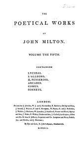 The Poetical Works of John Milton: Volume 5