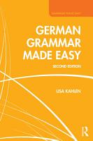 German Grammar Made Easy PDF
