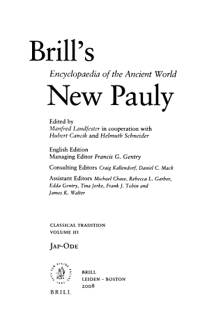 Brill s New Pauly  Jap Ode PDF