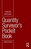Quantity Surveyor s Pocket Book PDF