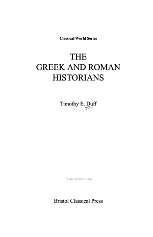 The Greek and Roman Historians