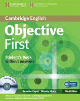 Objective First Student s Book Without Answers with CD ROM PDF