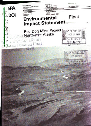 Red Dog Mine Project  Northwest Alaska
