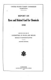 Census of Dyes and Coal-tar Chemicals, 1918