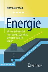Energie – Wie verschwendet man etwas, das nicht weniger werden kann?