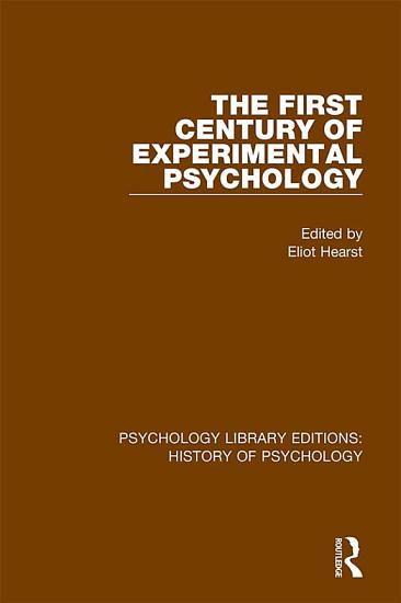 The First Century of Experimental Psychology PDF