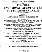 De tempore ludorum saecularium sub Philippis Augustis celebratorum. Resp. Jo. Dav. Ellrod. -Altorfii, Kohles 1723