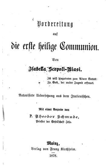 Vorbereitung auf die erste heilige Communion PDF