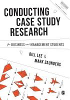 Conducting Case Study Research for Business and Management Students PDF