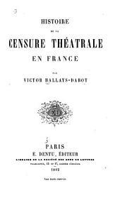 Histoire de la censure théatrale en France