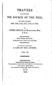 Travels to Discover the Source of the Nile: In the Years 1768, 1769,1770, 1771, 1772, &1773, Volume 7