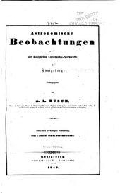 Astronomische beobachtungen auf der Königlichen universitäts-sternwarte zu Königsberg ...: Bände 29-31