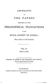 Abstracts of the Papers Printed in the Philosophical Transactions of the Royal Society of London: Volume 4
