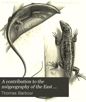 A Contribution to the Zoögeography of the East Indian Islands