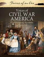 Voices of Civil War America  Contemporary Accounts of Daily Life PDF
