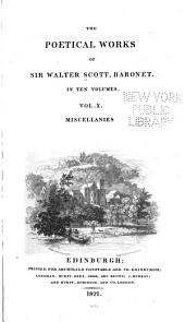 The Poetical Works of Sir Walter Scott, Baronet: Volume 10