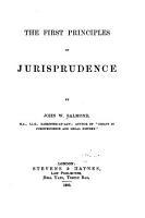 The First Principles of Jurisprudence PDF
