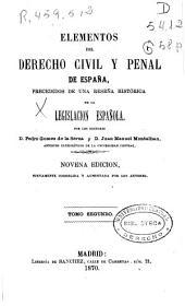 Elementos Del Derecho Civil Y Penal