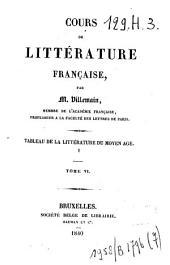 Tableau de la littérature du Moyen Age