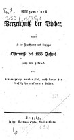 Allgemeines Verzeichnis der B  cher  welche von Ostern bis Michaelis von Michaelis bis Ostern neu gedruckt oder aufgelegt worden sind PDF