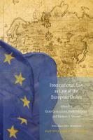 International Law as Law of the European Union PDF