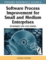 Software Process Improvement for Small and Medium Enterprises  Techniques and Case Studies PDF