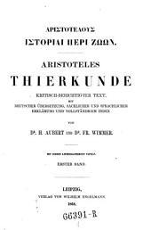 Aristoteles Thierkunde