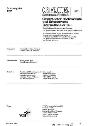 Gewerblicher Rechtsschutz und Urheberrecht PDF