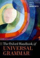 The Oxford Handbook of Universal Grammar PDF