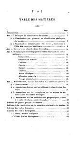 Classification et caractères minéralogiques des roches homogènes et hétérogènes