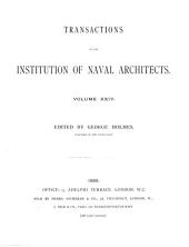 Transactions of the Royal Institution of Naval Architects: Volume 24