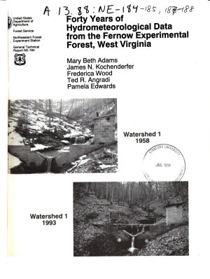 Forty Years of Hydrometeorological Data from the Fernow Experimental Forest  West Virginia PDF