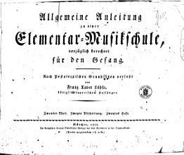 Allgemeine Anleitung zu einer Elementar Musikschule  vorz  glich berechnet f  r den Gesang0 PDF