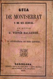 Guía de Montserrat y de sus cuevas