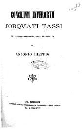 Concilium inferorum Torquati Tassi in Latinos hexametros versus translatum