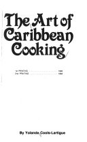 The Art Of Caribbean Cooking Book PDF