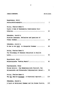 Arbeitspapiere zur Linguistik PDF