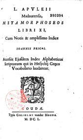Lucii Apuleii... Metamorphoseos libri XI, cum notis... Joannis Pricaei. Accessit ejusdem index alphabeticus scriptorum qui in Hesychii graeco vocabulario laudantur