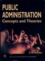 Public Administration  Concepts And Theories PDF