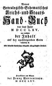 Neues genealogisch schematisches Reichs  und Staats Handbuch PDF