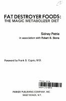 Fat Destroyer Foods PDF