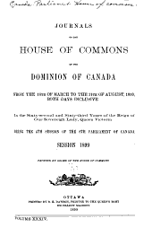 Journals of the House of Commons of the Dominion of Canada: Volume 34