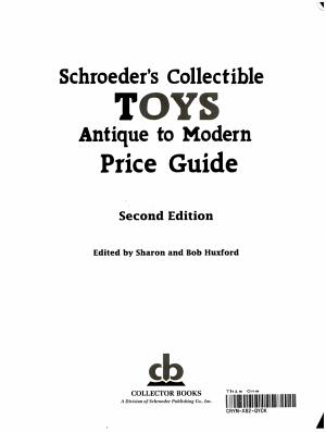 Schroeder s Collectible Toys PDF
