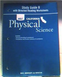 Science   Technology Study Guide B With Directed Reading Worksheets Physical Science Grade 8 PDF