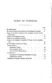 Personal Representation: Speech of John Stuart Mill ... Delivered in the House of Commons, May 29, 1867