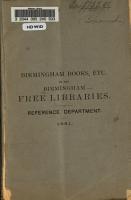 Birmingham Books  Etc   in the Free Libraries PDF