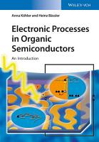 Electronic Processes in Organic Semiconductors PDF