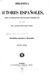 Novelistas anteriores a Cervantes: Volumen 3