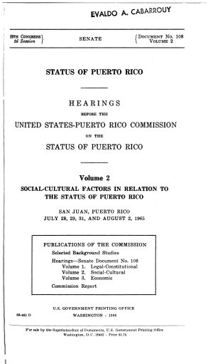Status of Puerto Rico: Social-cultural factors in relation to the status of Puerto Rico
